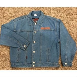 Harley Davidson Embroidered Denim jean jacket